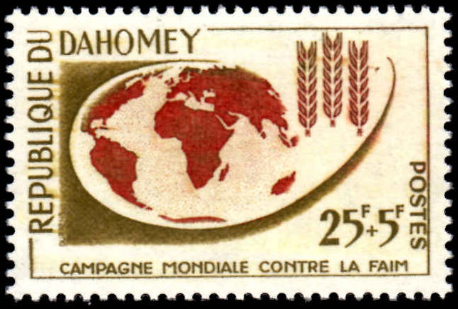 Dahomey 1963 Freedom From Hunger unmounted mint.