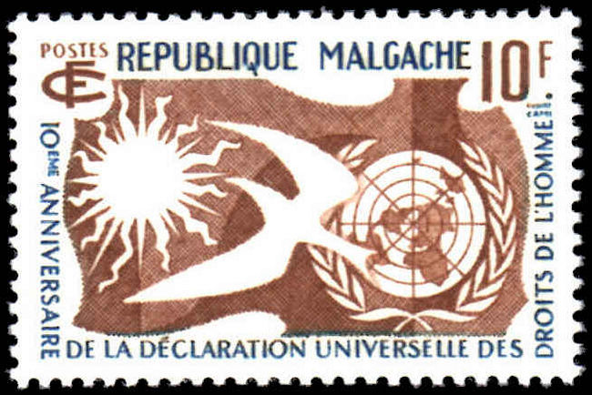 Malagasy 1958 Human Rights unmounted mint.