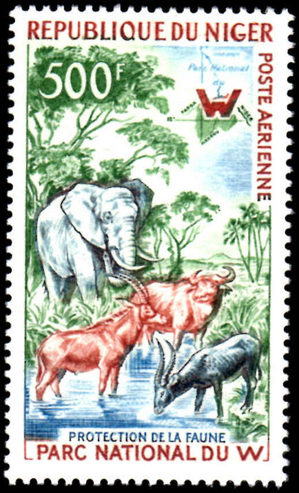 Niger 1960 500fr Animals unmounted mint.