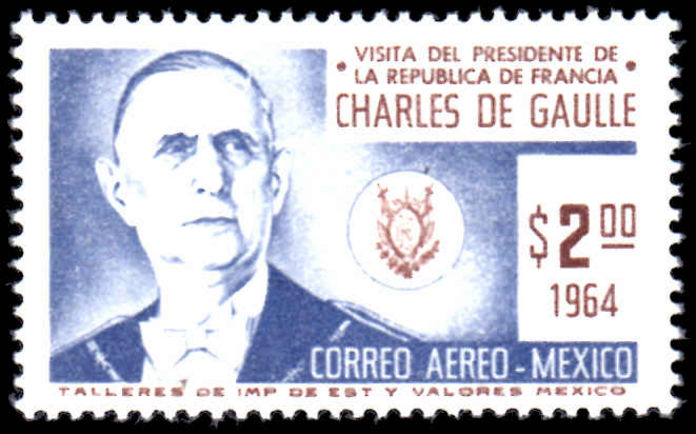 Mexico 1964 Air. Visit of President of France unmounted mint.