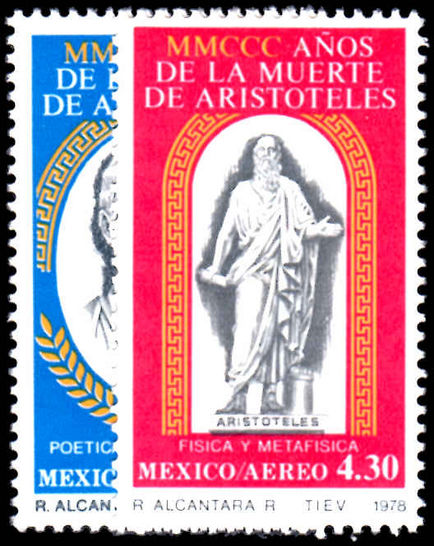 Mexico 1978 Air. 2300th Death Anniv of Aristotle unmounted mint.