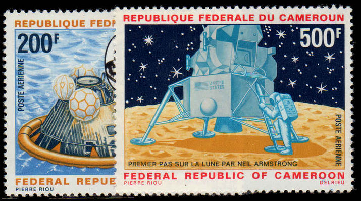 Stamp for sale Cameroon 1969 Space First Man on the