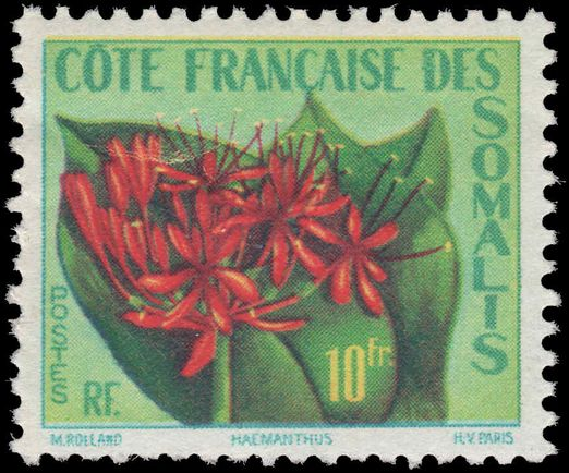 French Somali Coast 1957 Haemanthus unmounted mint.