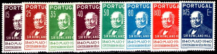 Portugal 1940 Rowland Hill mint hinged (1e75 with small thin).