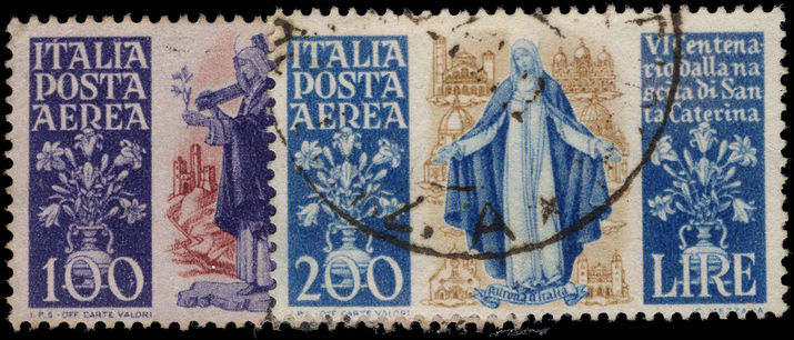 Italy 1948 St Catherine Of Sienna airs fine used.