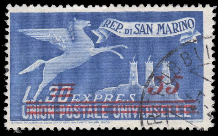 San Marino 1948 Express letter 35l on 30l fine used.
