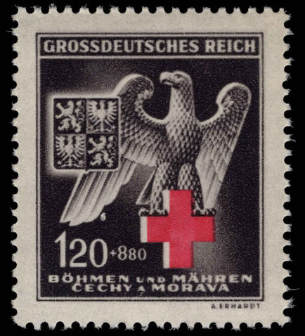 Bohemia and Moravia 1943 Red Cross unmounted mint.