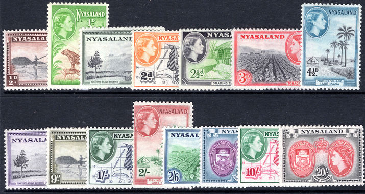 Nyasaland 1953-54 set lightly mounted mint.