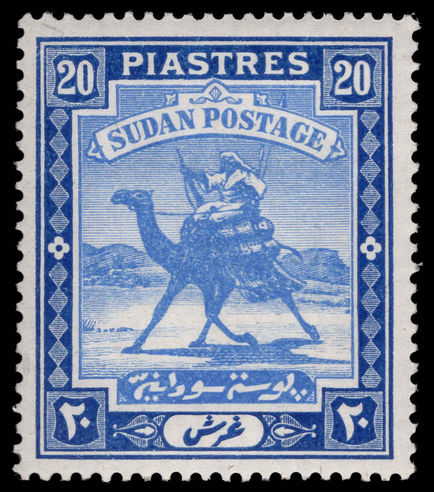 Sudan 1948 20p Arab Postman chalky paper lightly mounted mint.