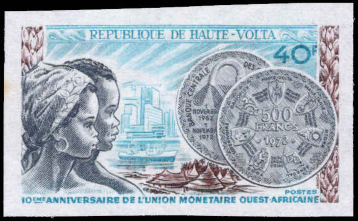Upper Volta 1972 Monetary Union imperf unmounted mint.