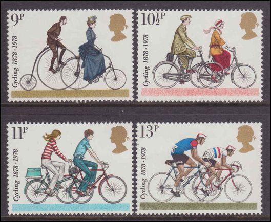 1978 Centenaries of Cyclists' Touring Club and British Cycling Federation unmounted mint.