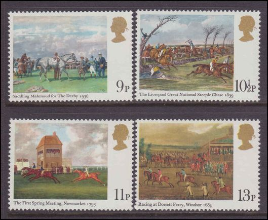 1979 Horse-racing Paintings unmounted mint.