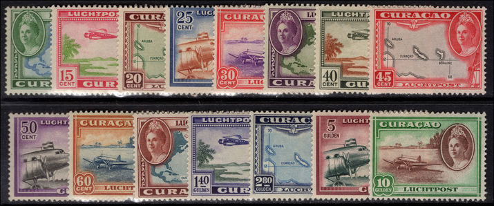 Curacao 1942-43 Air set lightly mounted mint.