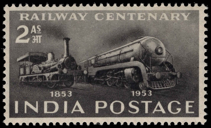 India 1953 Railway Centenary unmounted mint.