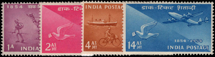 India 1954 Stamp Centenary unmounted mint.