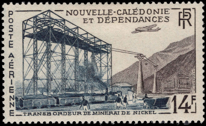 New Caledonia 1955 Transporting Nickel unmounted mint.