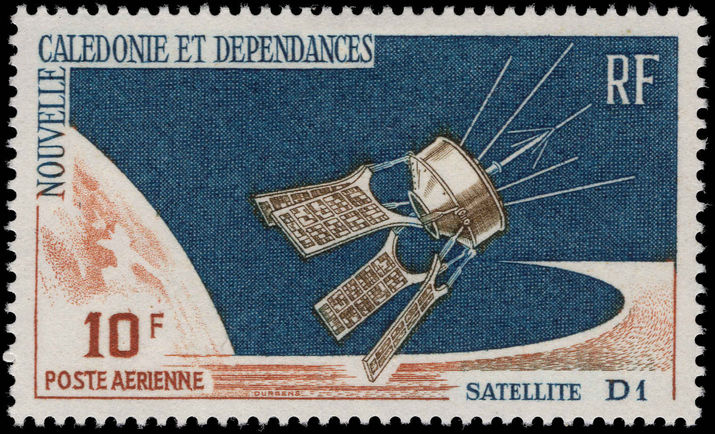 New Caledonia 1966 D1 Satellite unmounted mint.