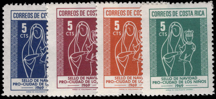 Costa Rica 1969 Obligatory Tax, Christmas unmounted mint.