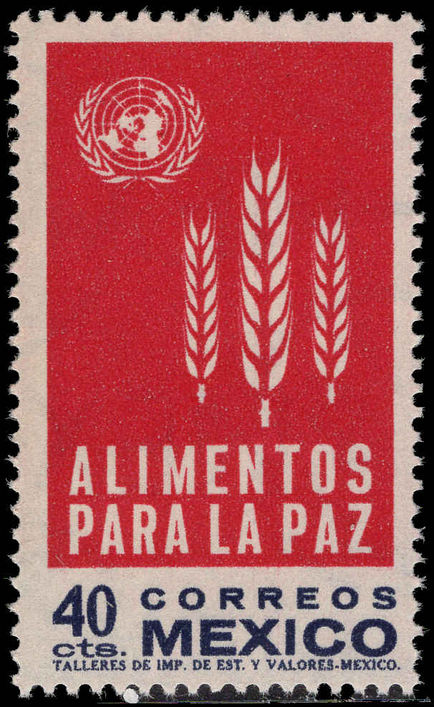 Mexico 1963 Freedom from Hunger unmounted mint.