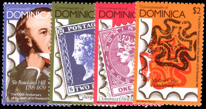Dominica 1979 Rowland Hill perf 12 unmounted mint.