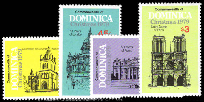 Dominica 1979 Christmas. Cathedrals unmounted mint.
