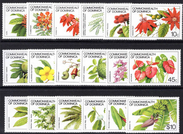 Dominica 1981-85 Plant Life set, no imprint unmounted mint.