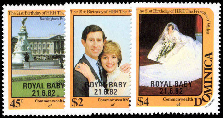 Dominica 1982 Royal Baby unmounted mint.
