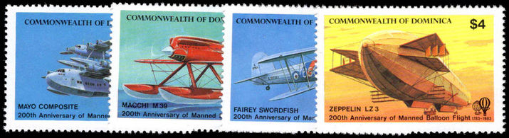 Dominica 1983 Manned Flight unmounted mint.