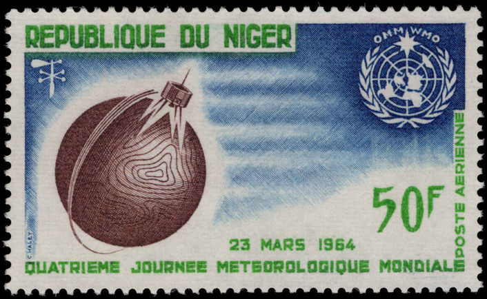 Niger 1964 World Meteorological Day unmounted mint.