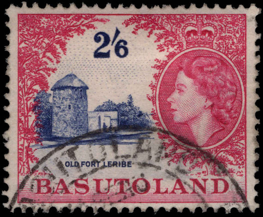 Basutoland 1954-58 2s6d Old Fort used.