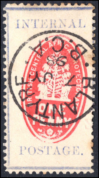 British Central Africa 1898 1d vermillion and deep ultramarine setting II fine used