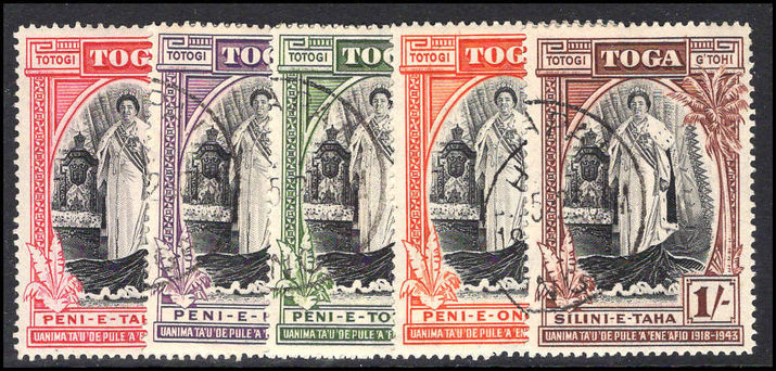 Tonga 1944 Silver Jubilee set (1d lightly mounted mint) fine used.