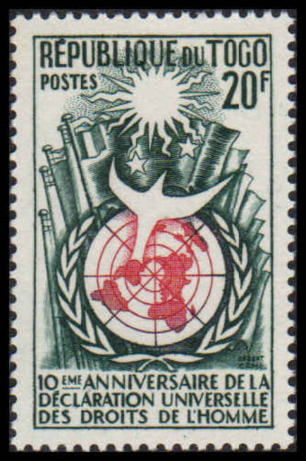 Togo 1958 Human Rights unmounted mint.