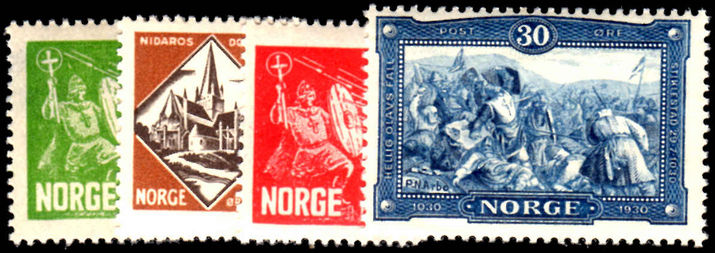Norway 1930 St Olaf set lightly mounted mint.