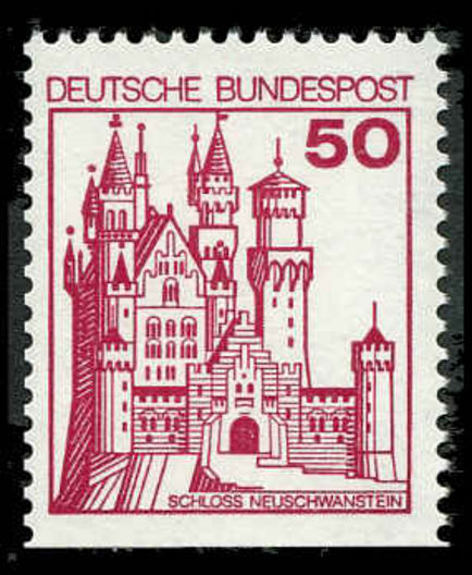 West Germany  1979 50pf Neuschwanstein Castle Perf 3 Sides unmounted mint.