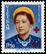 Vietnam 1952 1p50 Empress Nam Phoung Red Cross unmounted mint no gum as issued.