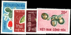 South Vietnam 1967 Exotic Fruits unmounted mint.