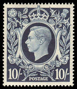 1939-48 10/- dark blue fine unmounted mint.