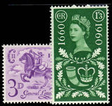 1960 Tercentenary of Establishment of General Letter Office unmounted mint.
