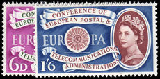 1960 1st Anniv of European Postal and Telecommunications Conference unmounted mint.