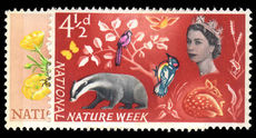 1963 National Nature Week unmounted mint.