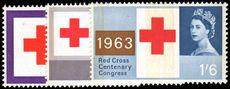 1963 Red Cross Centenary Congress phosphor unmounted mint.