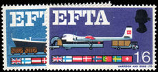 1967 EFTA phosphor unmounted mint.