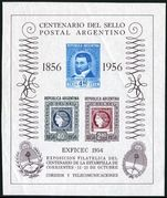 Argentina 1956 Stamp on Stamp Souvenir Sheet unmounted mint.