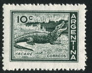 Argentina 1959 10c Alligator unmounted mint.