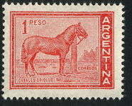 Argentina 1959 1p Creole Horse unmounted mint.