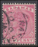 Bahamas 1884 1d Pale Rose Fine Used