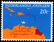 Netherlands Antilles 1964 Caribbean Council Map unmounted mint.
