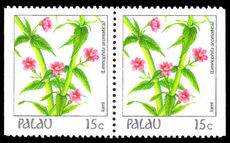 Palau 1987-88 15c booklet pair unmounted mint.