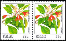 Palau 1987-88 22c booklet pair unmounted mint.